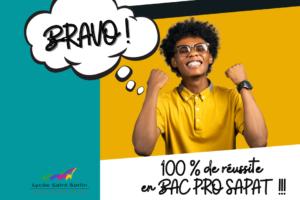 100% réussite BAC PRO SAPAT